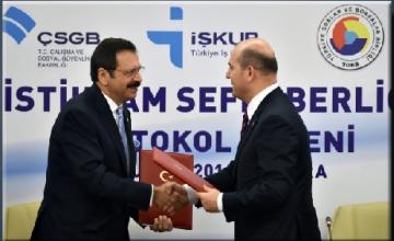 TOBB ve Çalışma Bakanlığı mesleki eğitim ve istihdam seferberliği başlattı