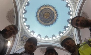 Başkanımızdan Çamlıca Tepesi Camii inşaatına ziyaret