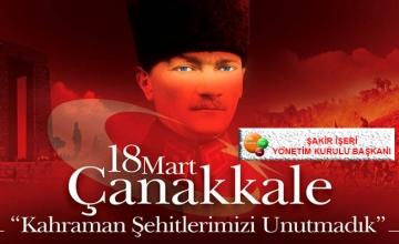 18 Mart Şehitleri Anma ve Çanakkale Deniz Zaferi Günü