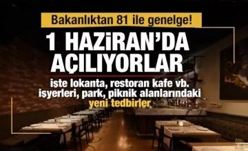 Restoran, Lokanta,Kafe Covid Tedbirleri Hk.